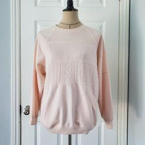 Vintage Light Pink Embossed Sweater